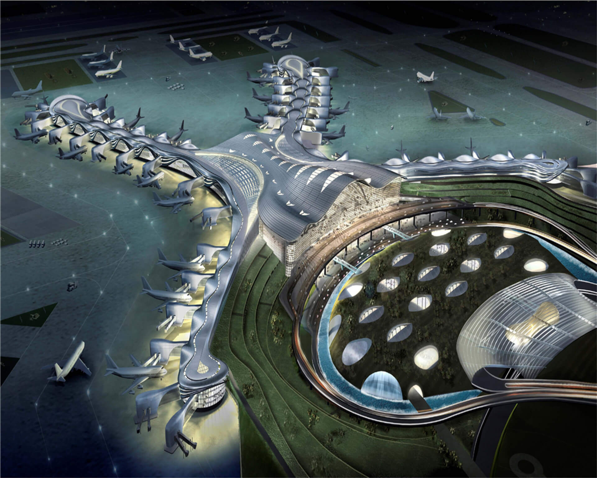 Midfield terminal building mtb at abu dhabi for Hispano international decor abu dhabi