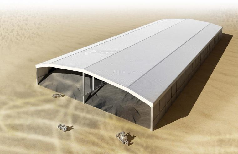 clinker storage shed for sharjah cement factory